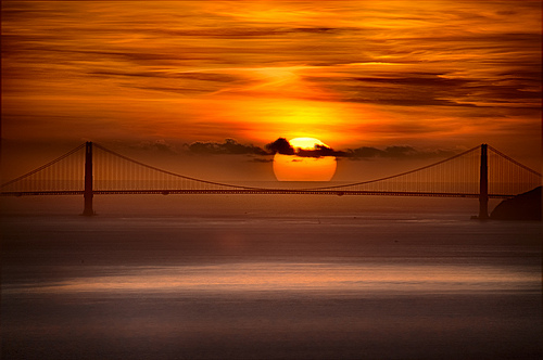 Golden Gate Sunset by Harold Davis