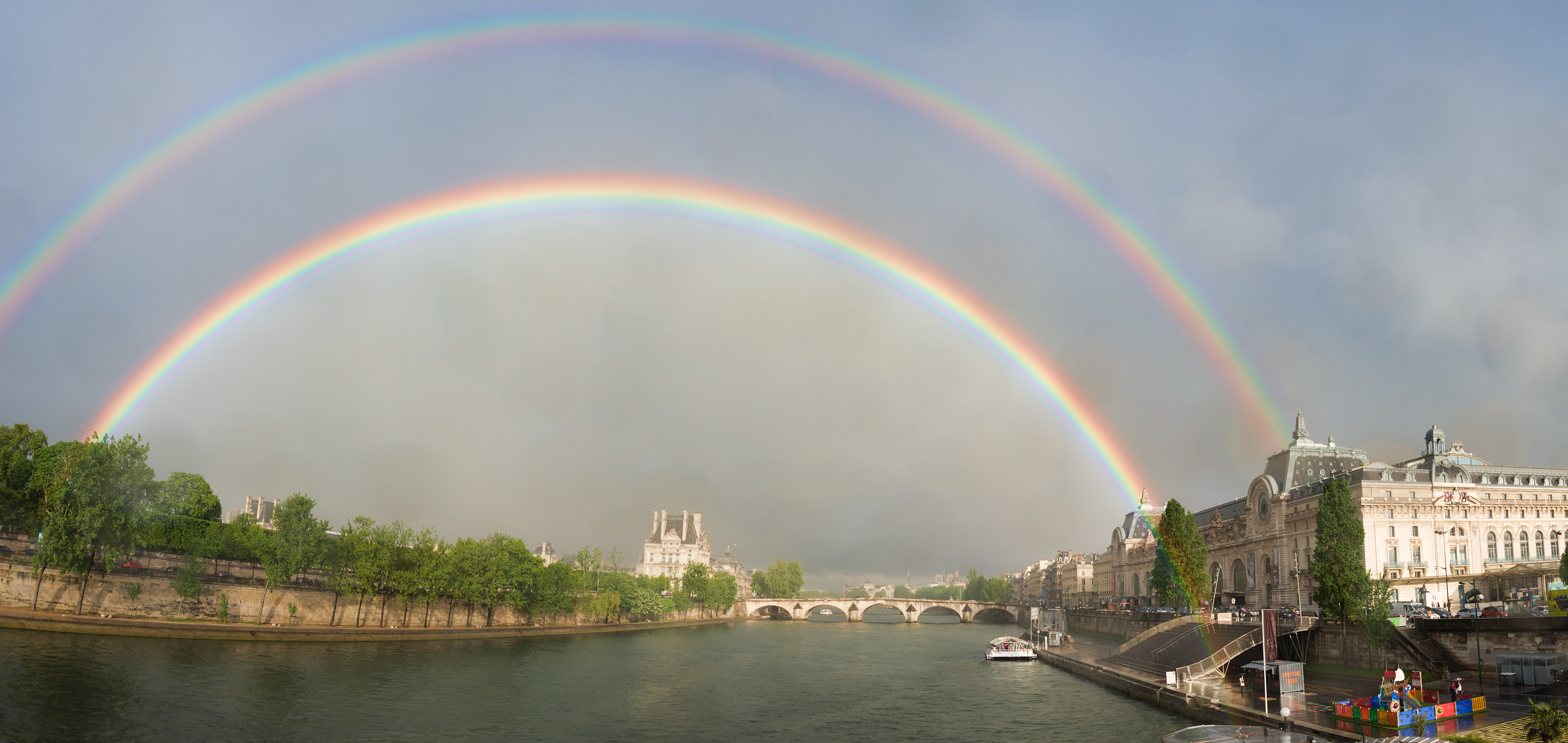 Double Rainbow Pano over Paris
