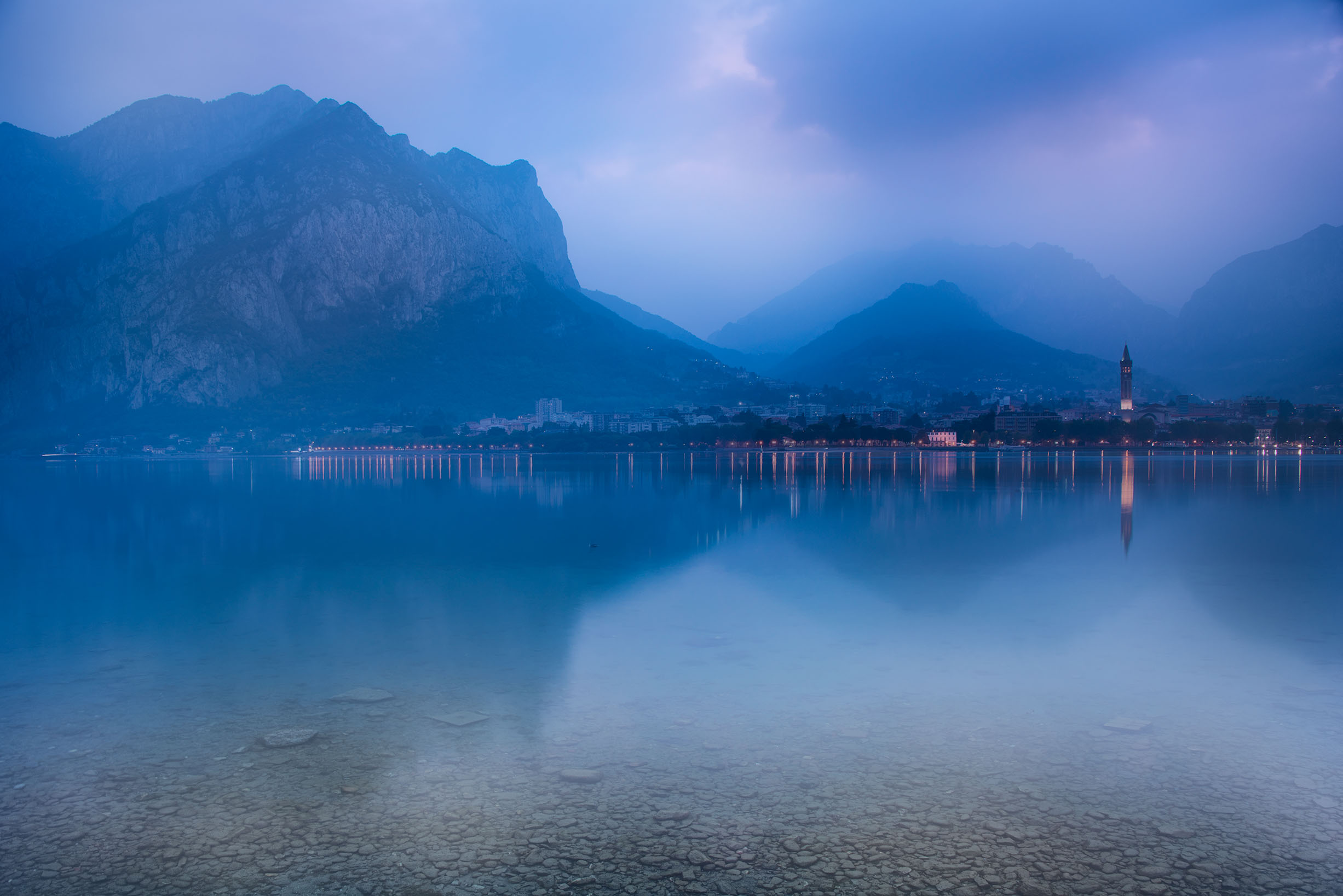 Dawn on Lake Como