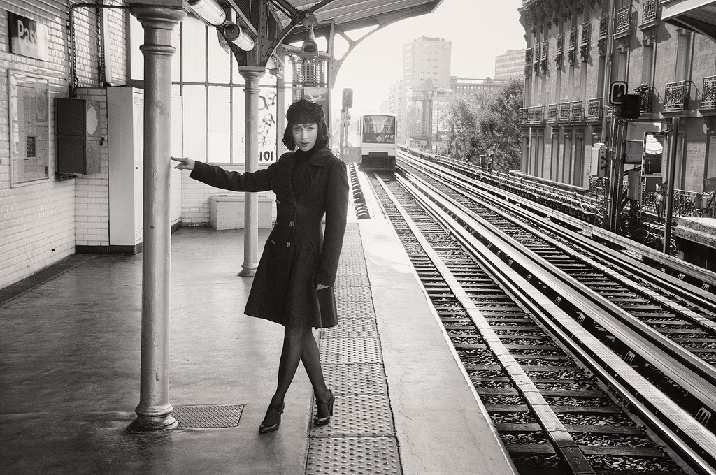 Kira at Passy Station © Harold Davis