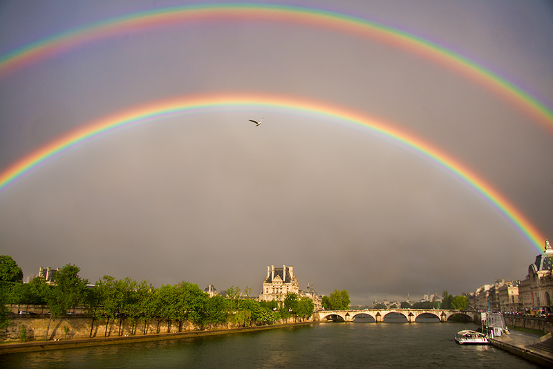 Double Rainbow over Paris © Harold Davis