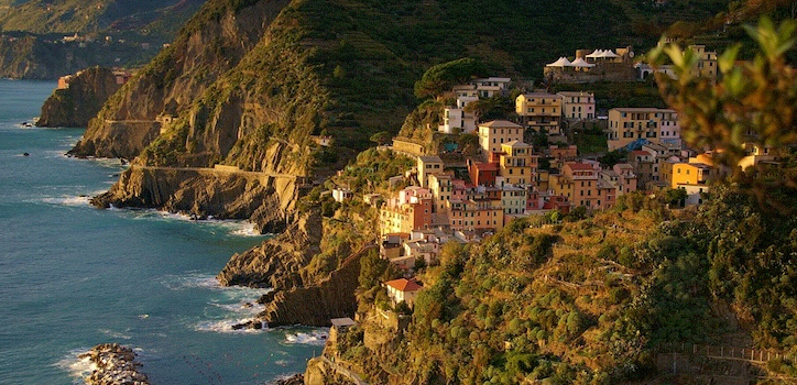 The Village of Riommaggiore was founded in 1251 (photo via www.Cinqueterre.it).