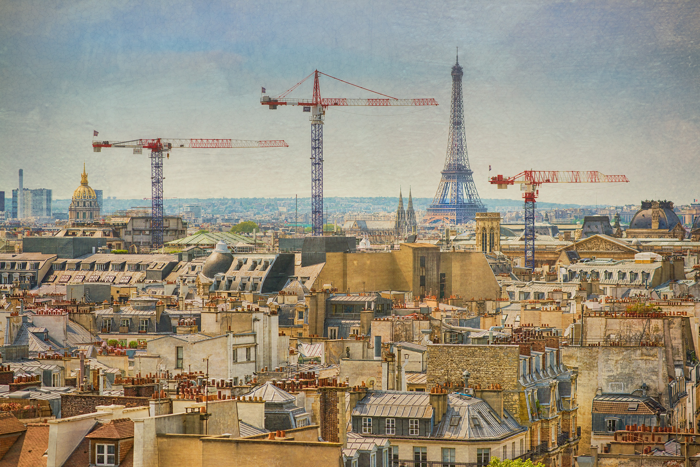 Three Cranes in Paris © Harold Davis
